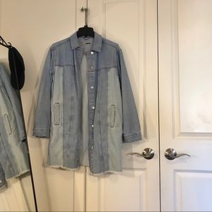 Denim Jacket with Two Different Colors